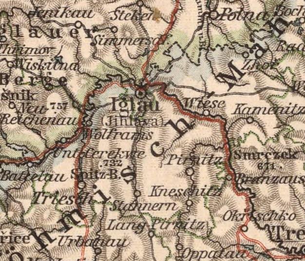 Bildergebnis für Pirnitz iglau karte